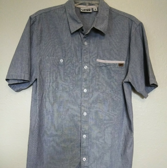 Vans Other - Men's Vans Short Sleeve BlueSize Medium